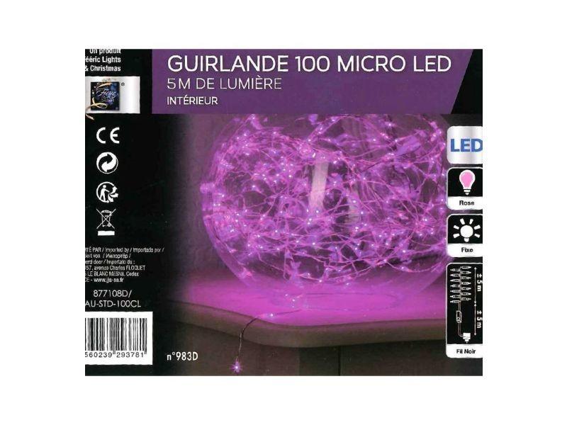 Guirlande électrique copper 100 led roses