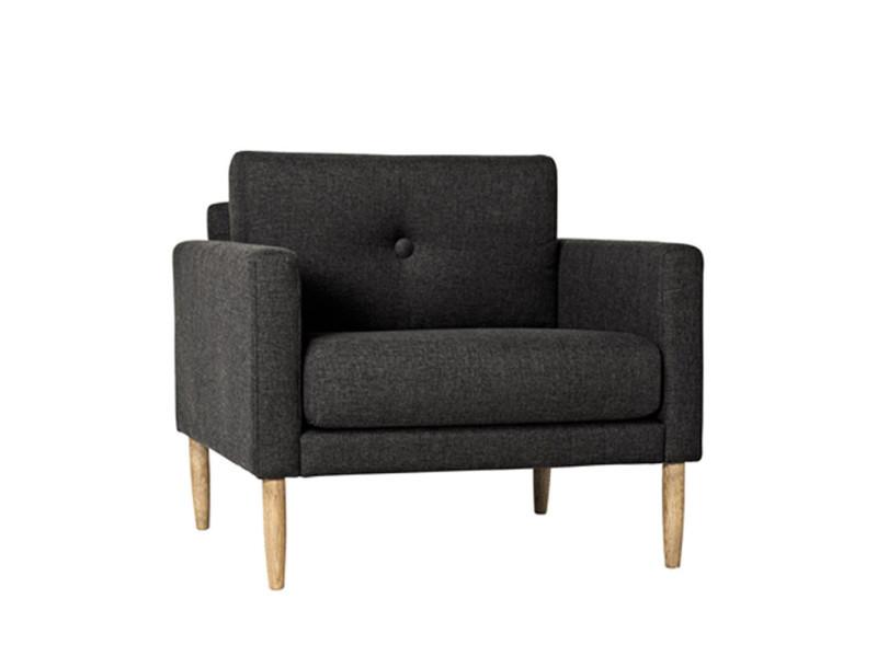 Calm - fauteuil design tissu gris anthracite - couleur - gris anthracite 50141606