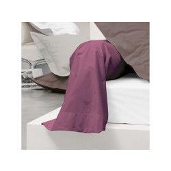 Taie de traversin uni 185x43 cm 100% coton alto raisin