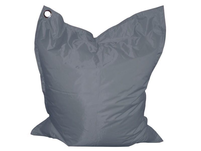 Coussin géant gris anthracite 110 x 130 cm, toile polyester ultra résistante, billes eps haute densité PFSIDEMAXCSGN-110x130-GRANTH