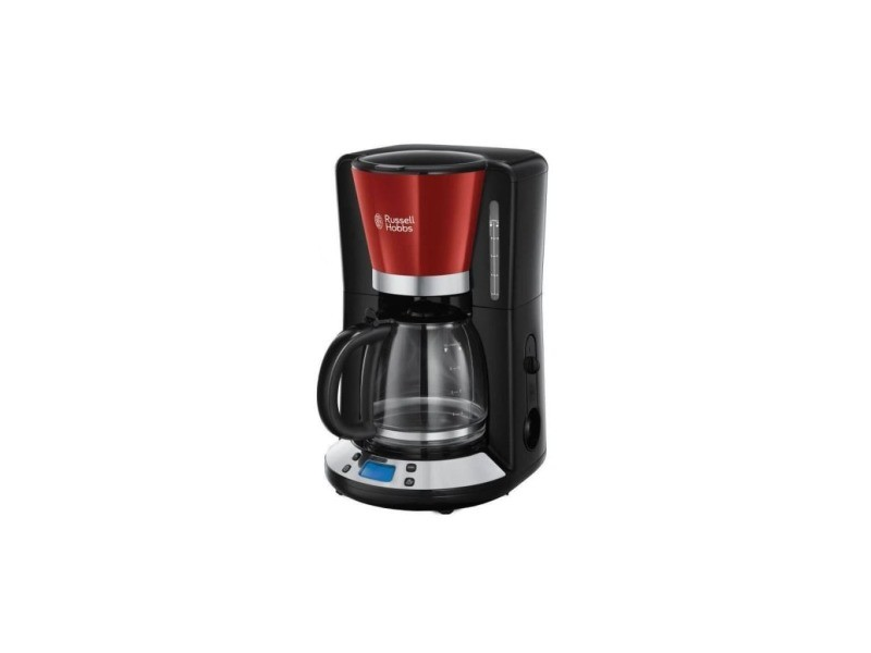 Russell hobbs 24031-56 cafetiere filtre programmable colours plus 24h, digital, maintien au chaud - rouge RUS4008496974290