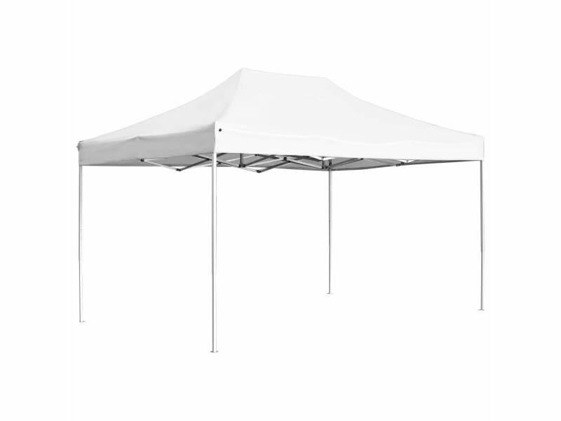 Sublime structures extérieures collection beyrouth tente de réception pliable aluminium 4,5x3 m blanc