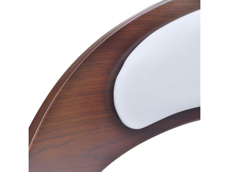 07de918563151 Vidaxl tabouret de bar 2pcs avec cadre en bois cuir synthétique blanc