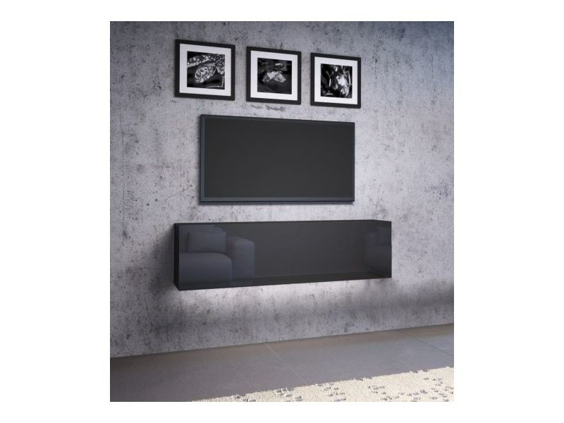 Livol l meuble tv 140 cm noir