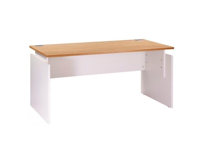 Bureau ineo 160 x 80 cm blanc chêne clair