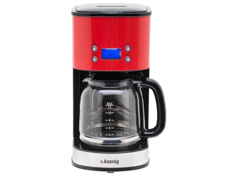 H.koenig mg30 rouge cafetiere programmable 12-20 tasses