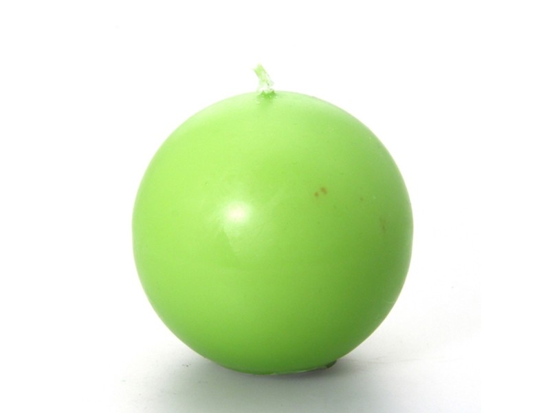 Bougie boule - diam. 7,5 cm - vert