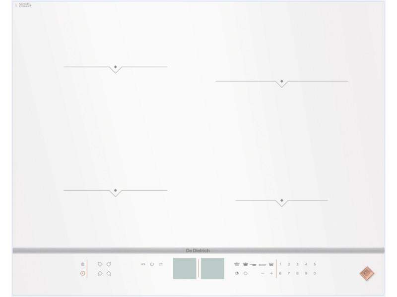 Table de cuisson à induction 65cm 4 feux 7400w blanc - dpi7670w dpi7670w