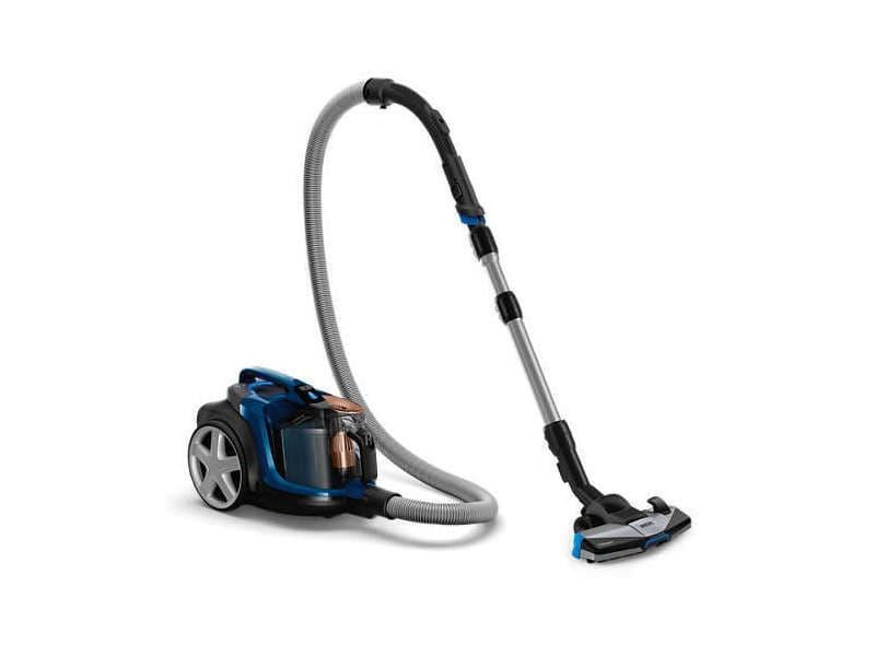 Philips powerpro expert fc9745/09 aspirateur réservoir cylindrique 2l 650w a+ noir, bleu aspirateur