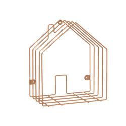 Rangement magazine house en métal cuivré