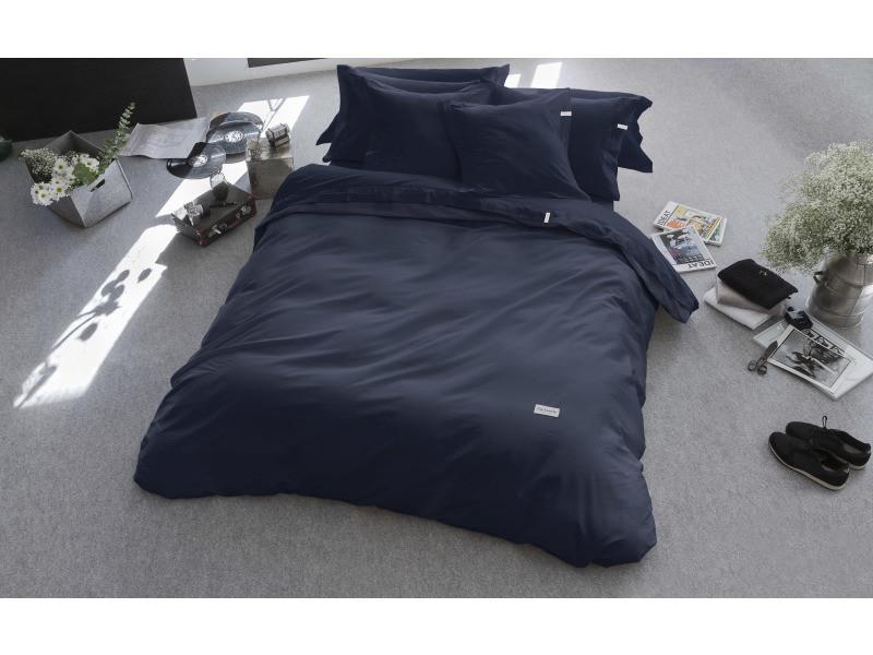 Housse de couette pure  155x220 cm bleu marine 71205