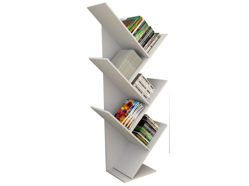 Etagère 5 niveaux design blanche