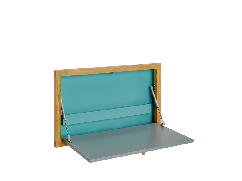 Cool bureau mural brenta couleur bleu vente de bureau for Table rabattable murale conforama