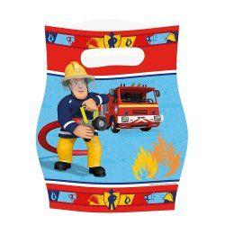 Sachets anniversaire sam le pompier x8