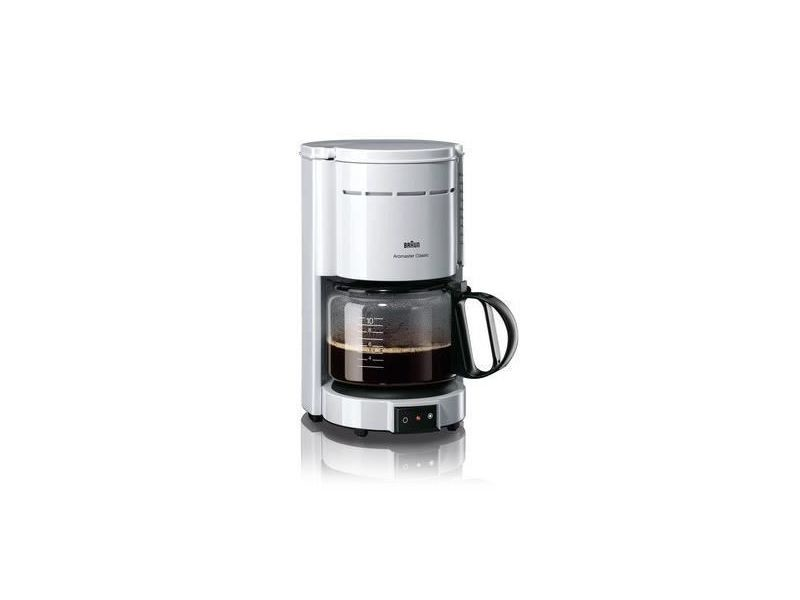 Braun kf47/1 cafetiere filtre aromaster classic - blanc BRAKF47WHITE