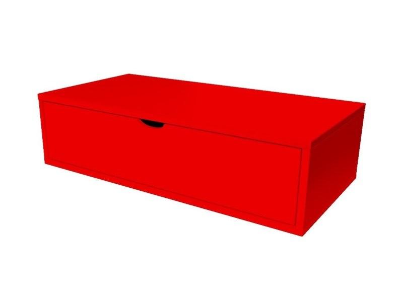 Cube de rangement bois 100x50 cm + tiroir rouge CUBE100T-Red