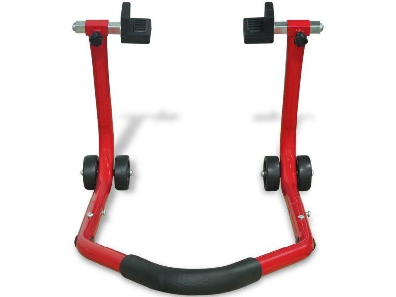 Icaverne - cales de roues edition support enclos arrière pour moto rouge