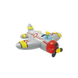 Avion rouge gonflable à chevaucher avec pistolet à eau