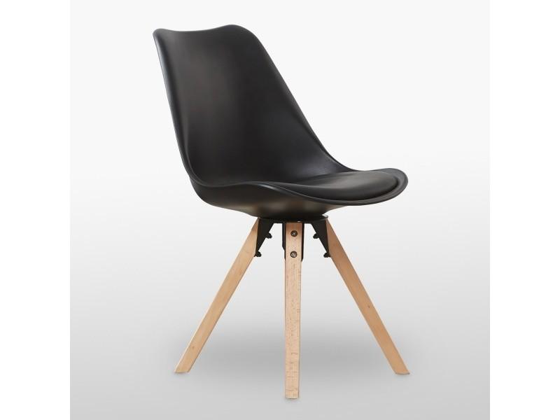 sofia scandinave Vente HOME Chaise noire DESIGN de WEDHI29