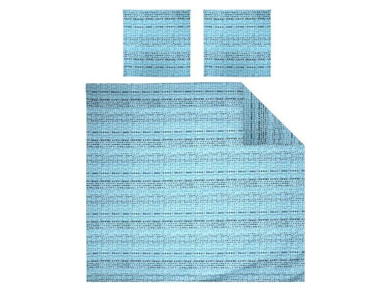 Parure de lit 240x220 cm satin de coton louvre bleu clair