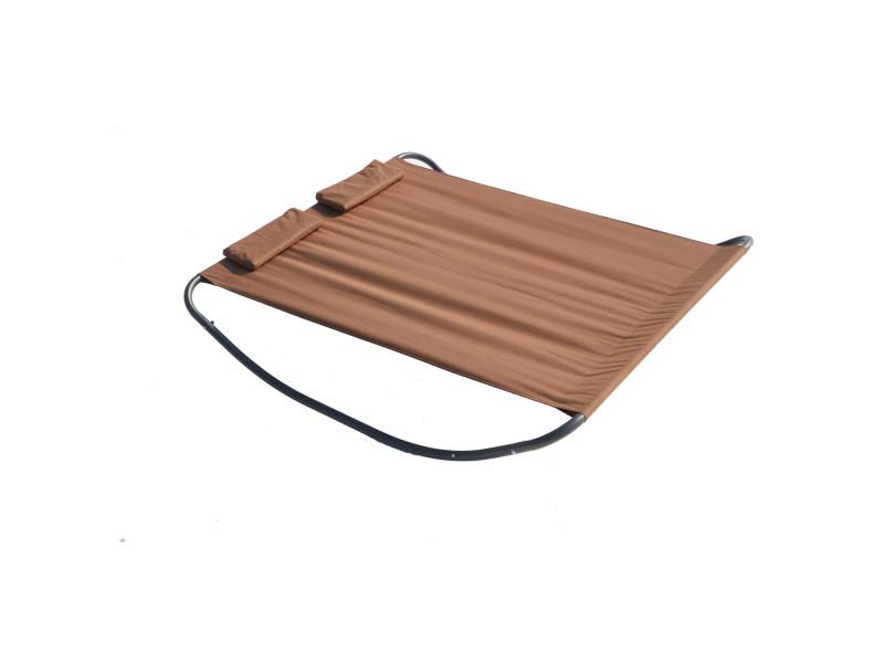 L'aquila : lit de jardin et transat à bascule 2 personnes 221811