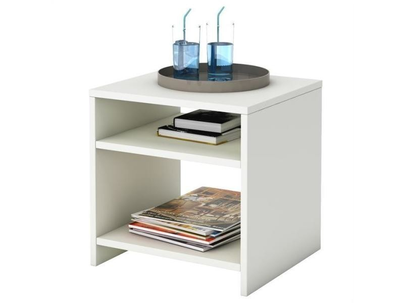 Table d 39 appoint livorno mdf m lamin blanc vente de - Conforama table d appoint ...
