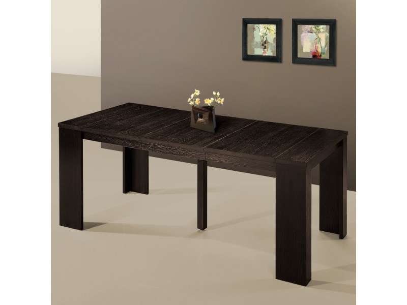 table console extensible simply 3 rallonges wenge conforama. Black Bedroom Furniture Sets. Home Design Ideas