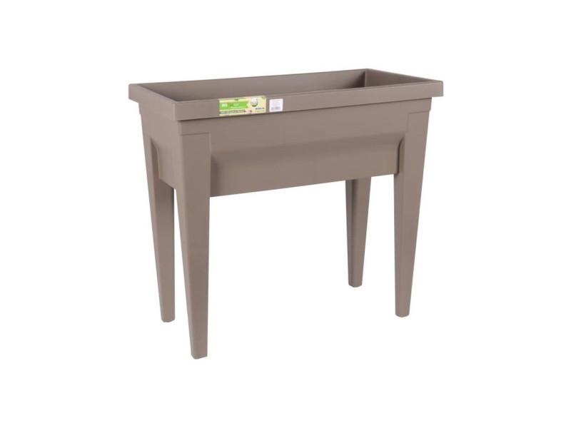 Eda espace potager avec table city végétable 73 x 38,5 x 68 cm - contenance 57 l - taupe AUC3086960241018