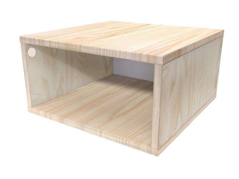 Cube de rangement bois 50x50 cm 50x50 brut CUBE50-B