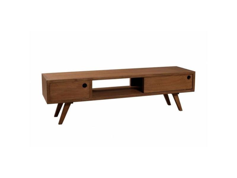 Meuble tv 1 porte coulissante fancy en bois teinte naturelle style scandinave 20100839755