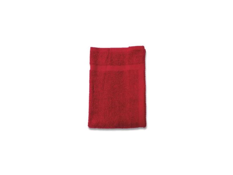 Soleil d'ocre tapis de bain 100% coton douceur 50x80 cm - rouge SOL3418174771010