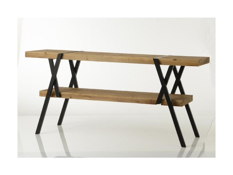 Console en bois et metal l 180 - aire