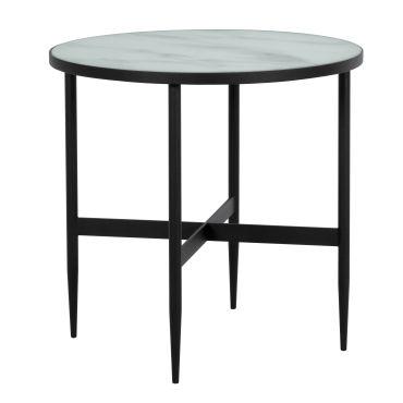 Table basse ronde alaska en verre effet marbre et metal - Table basse ronde conforama ...