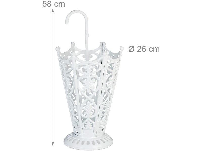 Porte-parapluies design antique en fonte blanc helloshop26 13_0002213_2