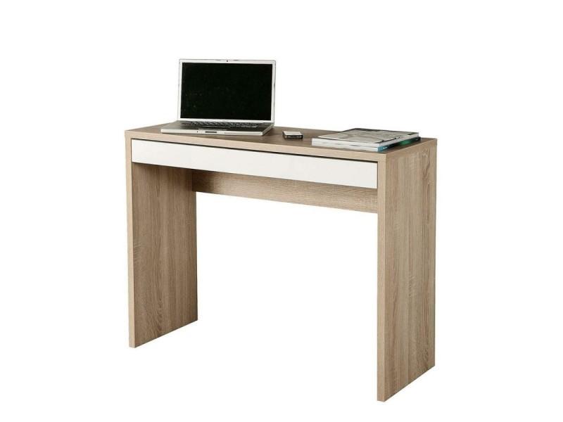 Console bureau avec tiroir 100 cm - zac
