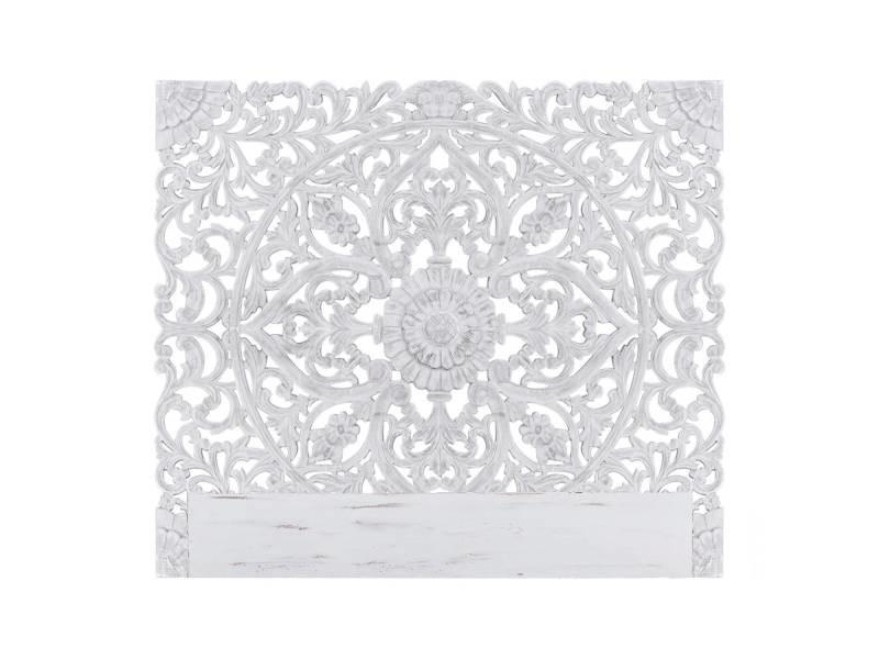 Tête de lit flora 160cm bois blanc