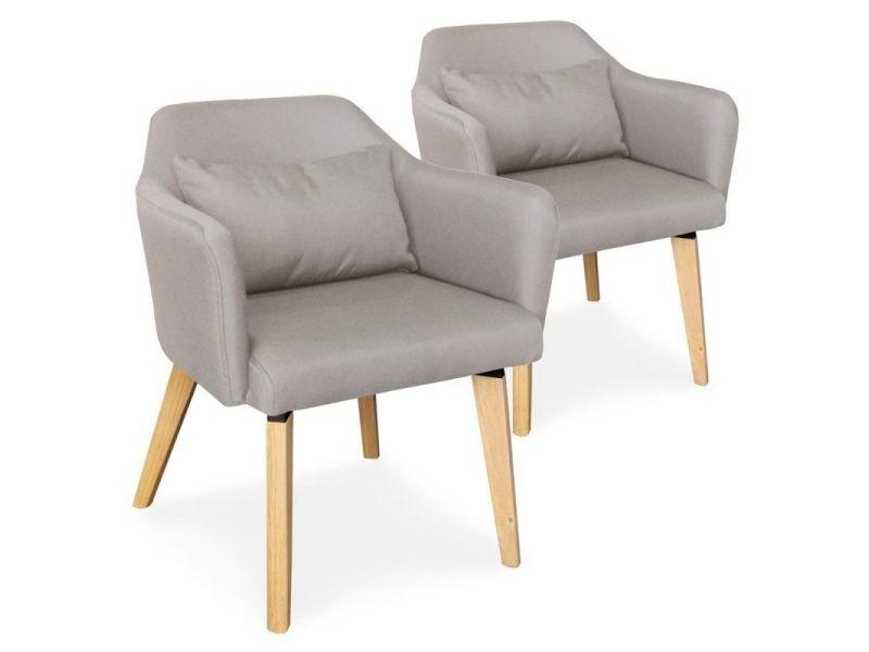 Paris prix lot de 2 fauteuils scandinave en tissu