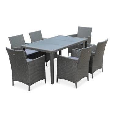 Table absolu fixe 10 personnes taupe hespéride - Vente de ...