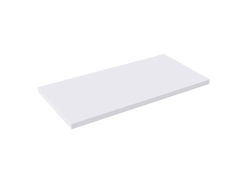Plan double vasque suspendu clever blanc - 140 x 46 cm