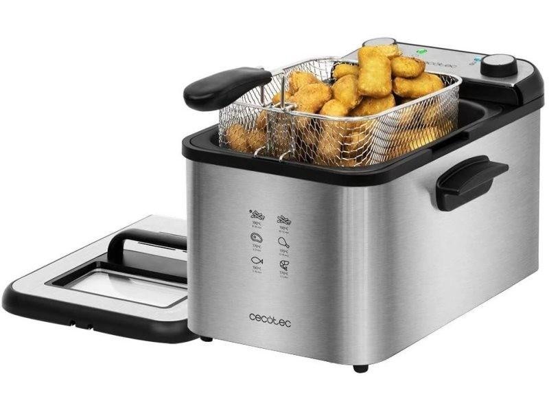 Friteuse électrique de 4l 3270w noir gris