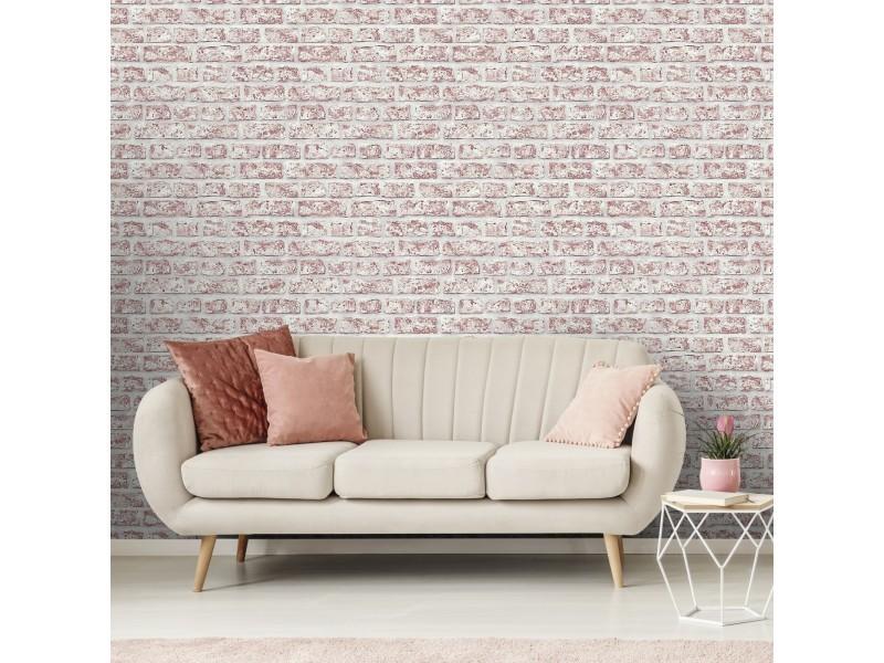 Papier peint intissé mur de briques 1005 x 52cm rouge 5576967