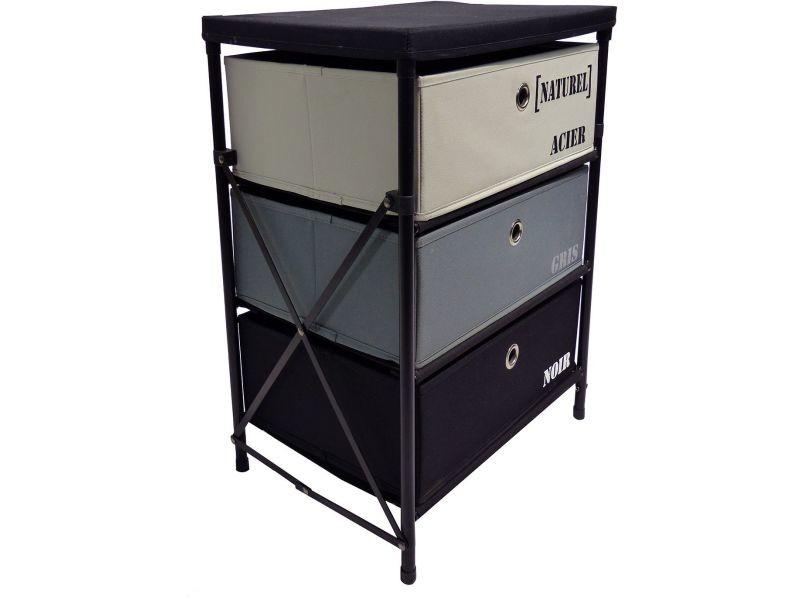 meuble 3 tiroirs kzabox vente de bureau composer conforama. Black Bedroom Furniture Sets. Home Design Ideas