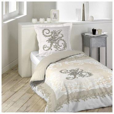 parure housse de couette 160 x 200 cm antoinette vente de parure de lit 1 personne conforama. Black Bedroom Furniture Sets. Home Design Ideas