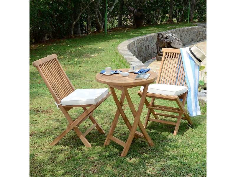 Salon de jardin en teck qualité ecograde lisbonne, 2 places Teck ...