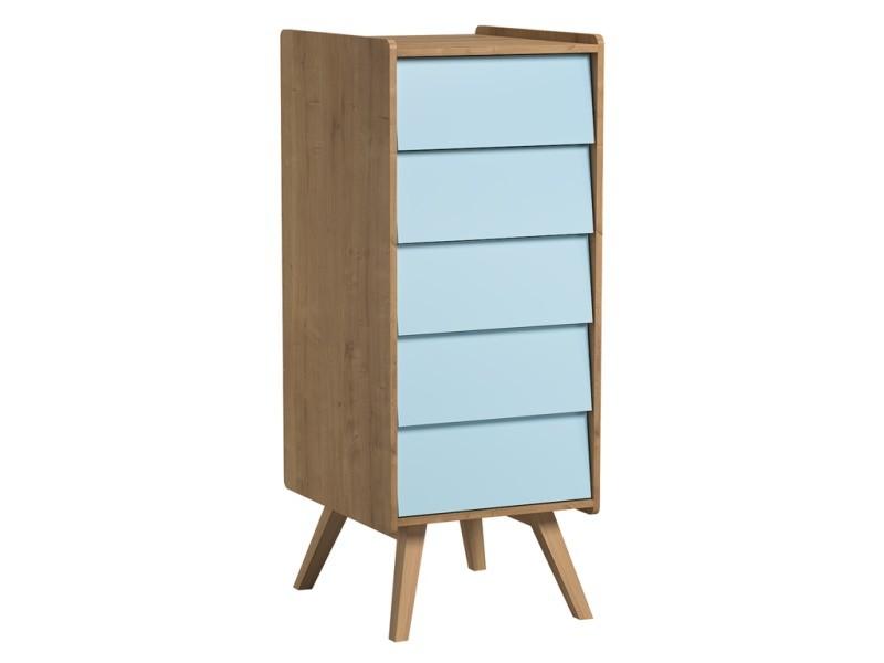 Chiffonnier vintage - bois bleu