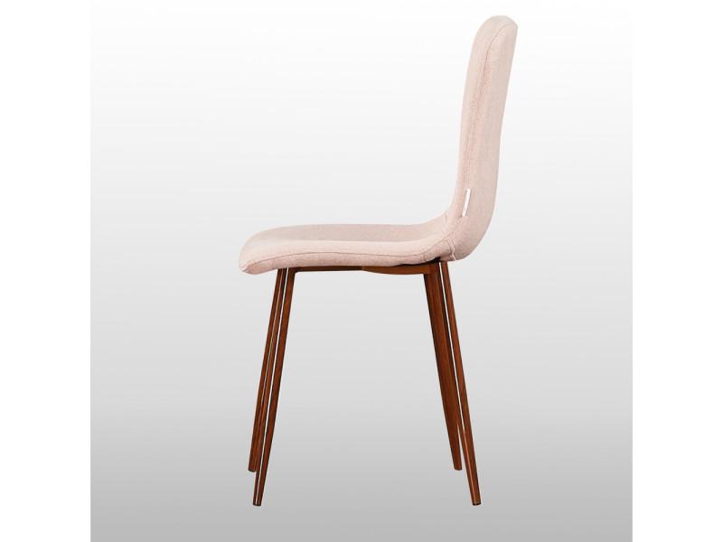 Lot de 2 chaises design en tissu roses Vente de HOME