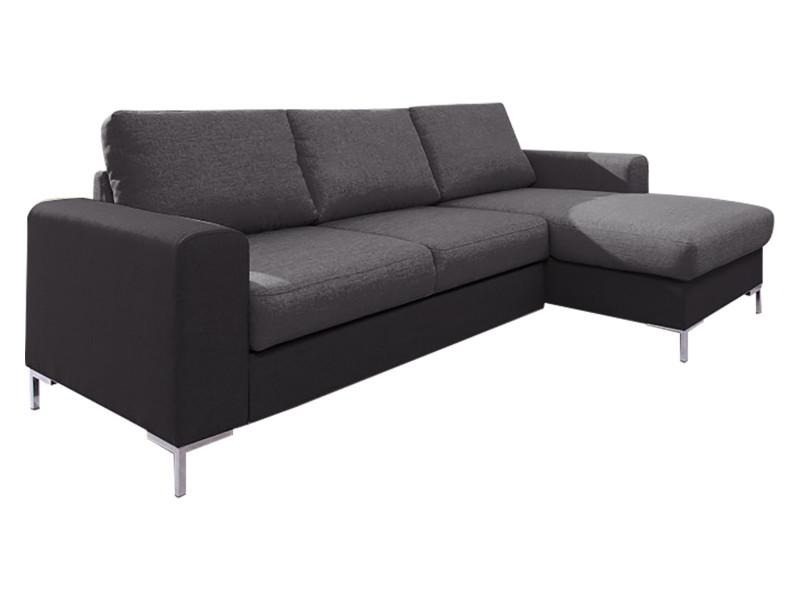 canap lilly angle droit convertible coffre bicolore gris gris anthracite 5906874136003 vente. Black Bedroom Furniture Sets. Home Design Ideas