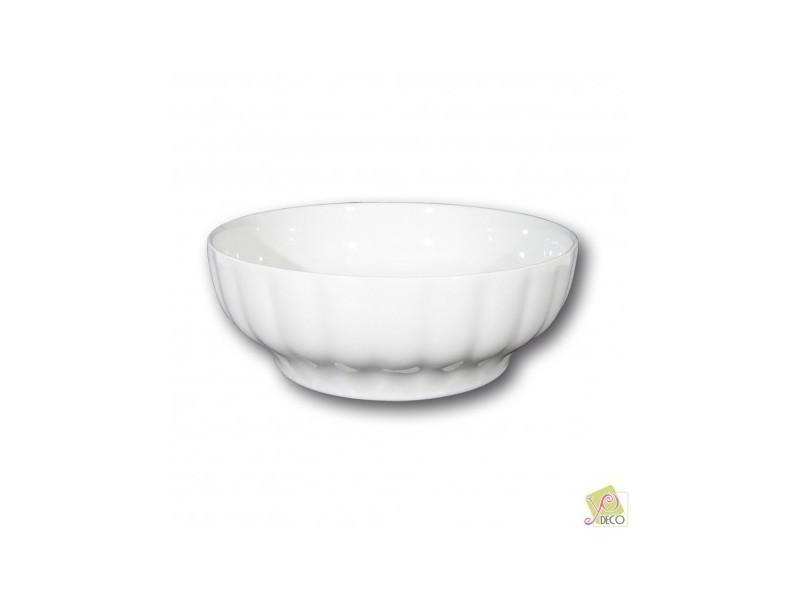 Saladier porcelaine blanche - d 26 cm - napoli