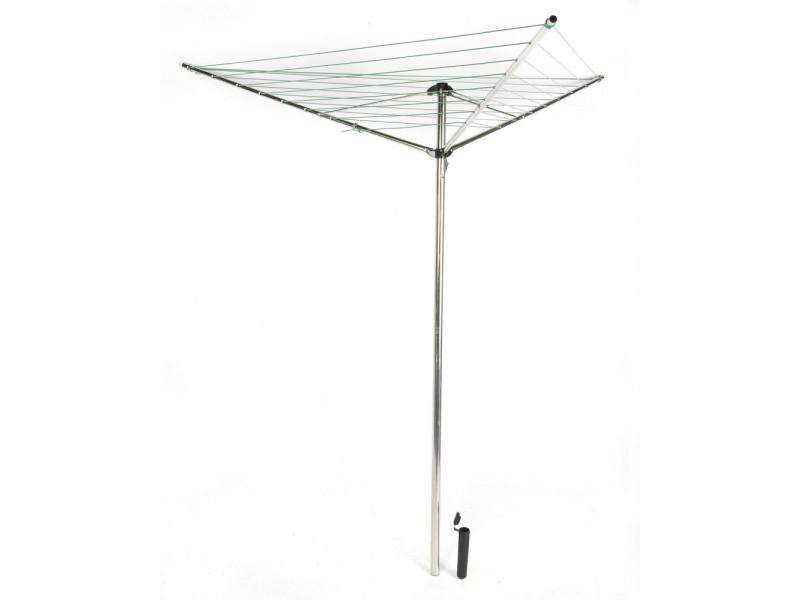 s choir linge parapluie pliable avec support gris alu. Black Bedroom Furniture Sets. Home Design Ideas