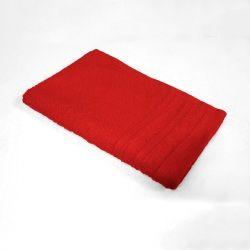 Serviette de toilette d'invite uni vitamine rouge 30 x 50 cm